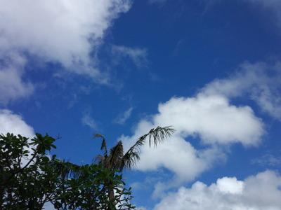 グアムの青い空