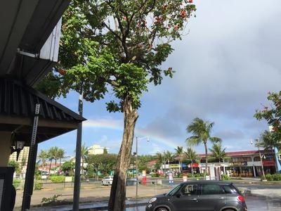 グアムで見た二重の虹
