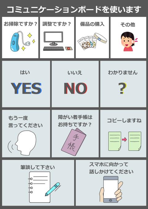 補聴器屋さん用コミュニケーションボード (1)
