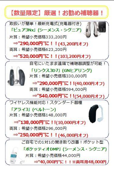 最新補聴器購入応援キャンペーン【2018年7月31日まで】