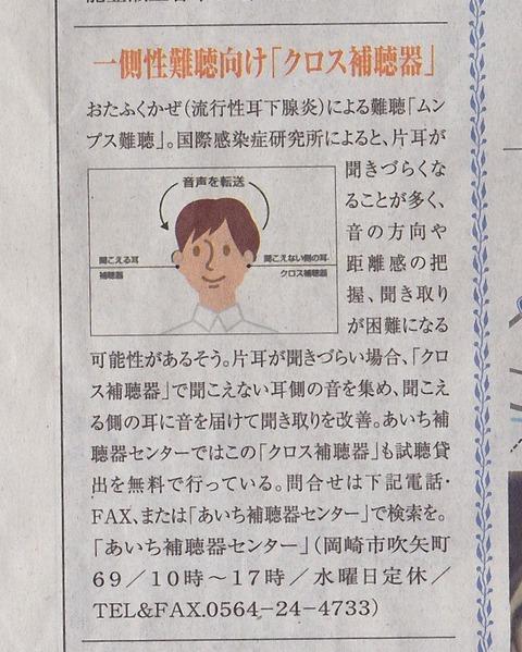 180526 中日新聞記事広告クロス補聴器 - コピー