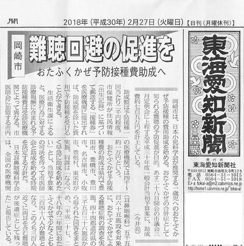 【岡崎市】おたふくかぜ予防接種費助成