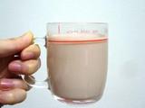 あずき茶牛乳割り♪