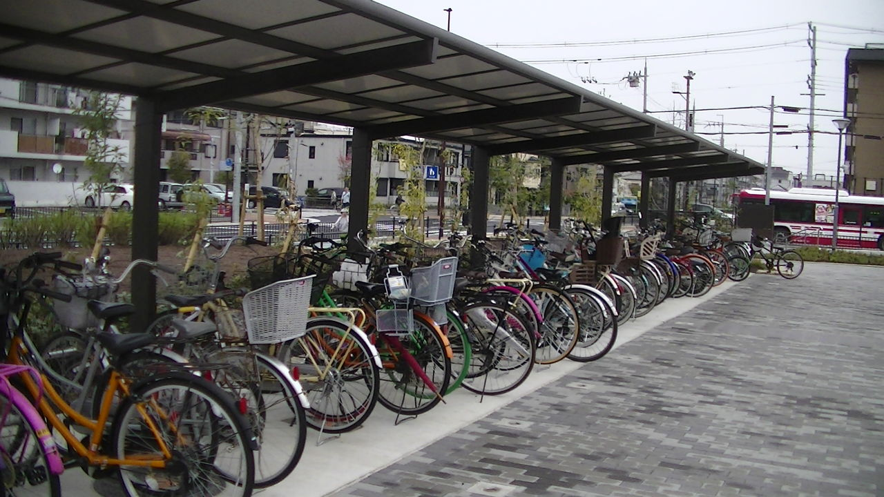この自転車置き場が災害発生 ...