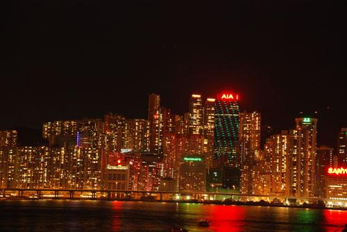 香港島夜景01