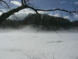 湖面にモヤ2