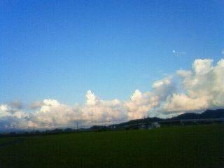 布師田の空