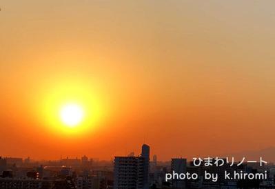 真っ赤な夕陽