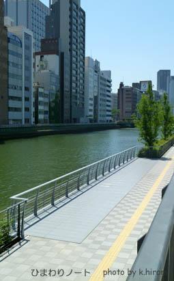 大阪中之島・遊歩道。