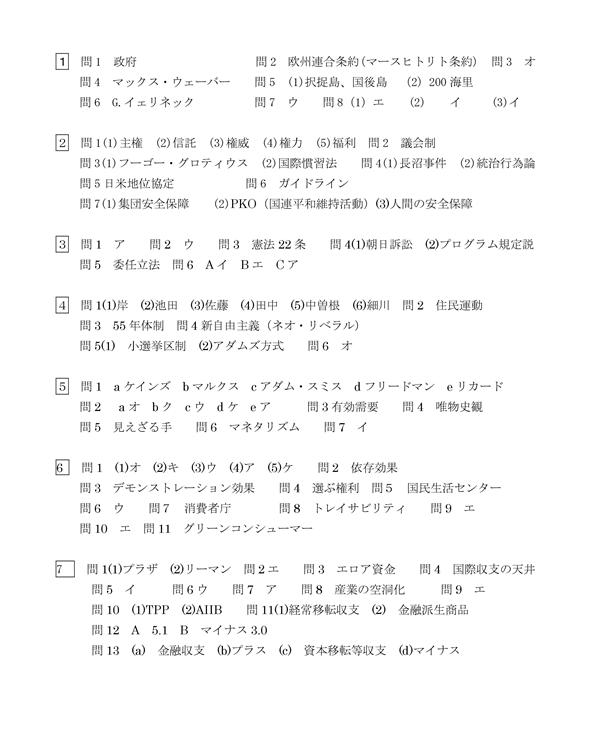 2016政治経済の解答(ちーさん)