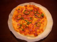 ピザソースの手作りピザ