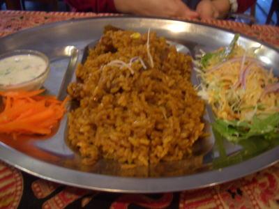 インド炊き込みご飯のセット!ビリヤニランチ