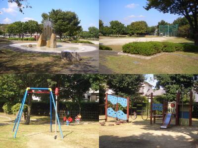 雨池公園内の設備
