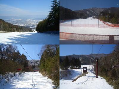 伊那スキーリゾートから見る雪景色