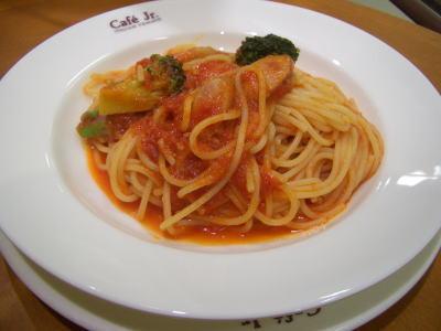 トマト系のスパゲティ