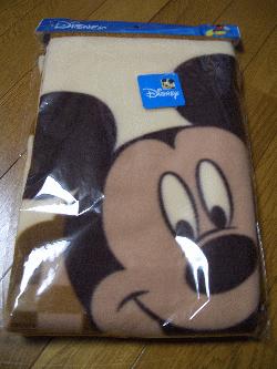 ミッキーの毛布