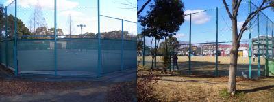 テニスコートや野球場など施設