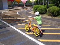 瀬戸市交通児童遊園の二輪自転車