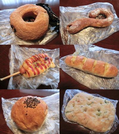 天使のチョコリングなどのパン各種