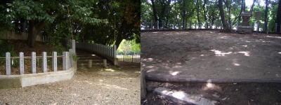御旅所(おたびしょ)古墳の入口
