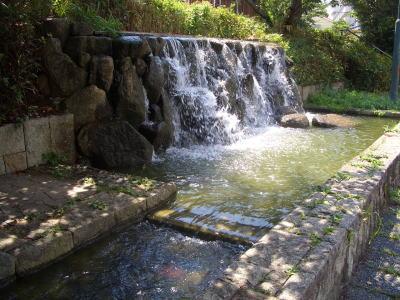 新海池公園にある水の流れる場所