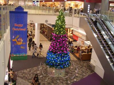 エアポートウォーク名古屋さんのクリスマスイルミネーション