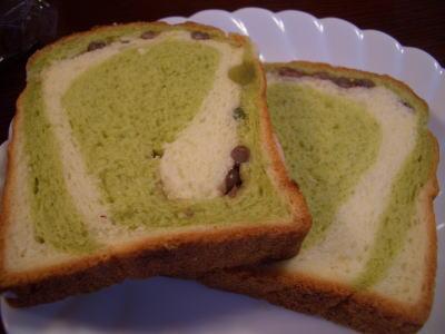 抹茶小豆食パン