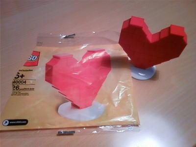 ハートのレゴ