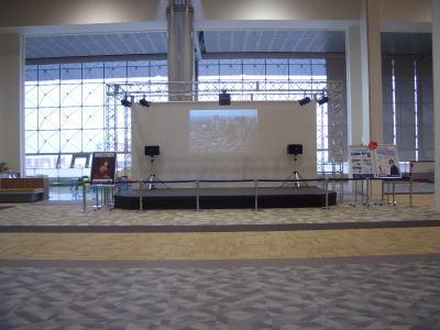 エアポートウォーク名古屋のイベントステージ