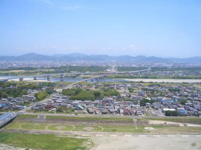 国営木曽三川公園の138ツインアーチから見える景色