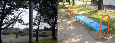 道風公園にある健康設備