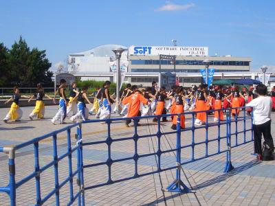 にっぽんど真ん中祭りの踊り風景