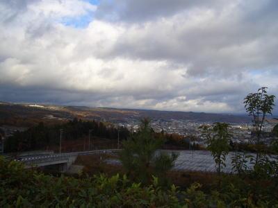 土岐の街も見渡せる景色