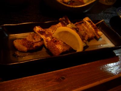 肝の串焼き