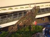 OASIS21に飾られている恐竜オブジェ
