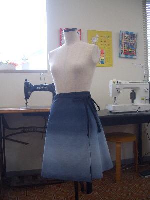 名古屋市守山区にある疋田洋裁学院で作ったラップスカート