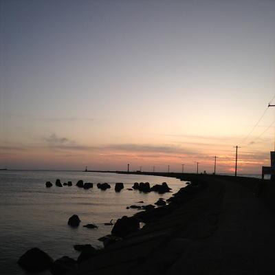 夕方の九頭竜川