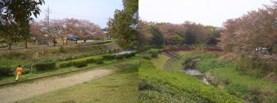 八田川の川原と風景