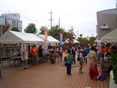 名古屋産業大学の尾張旭市市民祭参加風景