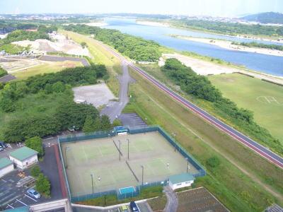 江南市にあるすいとぴあ江南の展望タワーから見える景色
