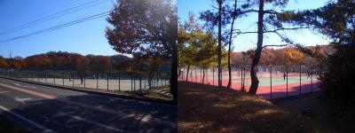 2箇所のテニスコート付近
