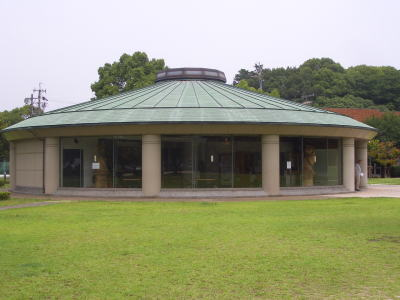 春日井市にある二子山公園のハニワの館