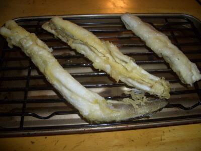 アナゴの天ぷらを作る