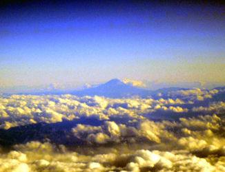 機内的富士山