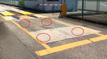 台貫の2番目の停車位置