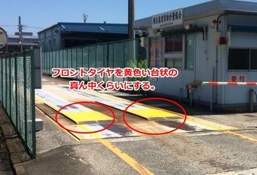 台貫の一番目の停車位置