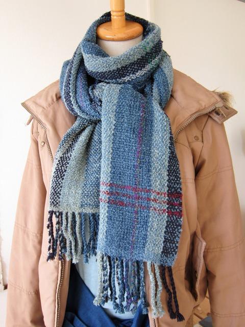 手織りマフラー3