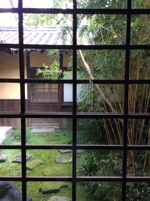 四国村 民家の庭