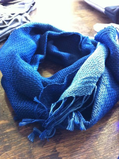 藍染めコットンマフラー