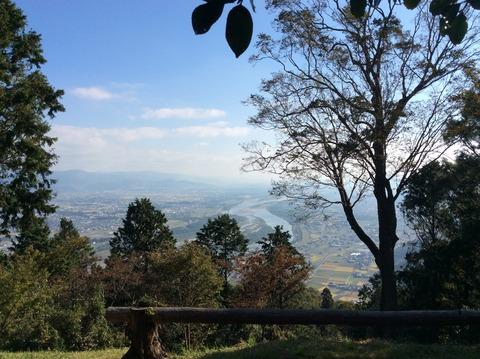 種穂神社境内からの眺め